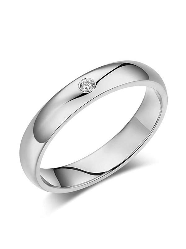 Men's Solid 14K White Gold Bridal Wedding Ring 0.03 Ct Natural Diamonds