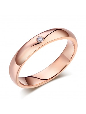 Men's Solid 14K Rose Gold Bridal Wedding Ring 0.03 Ct Natural Diamonds