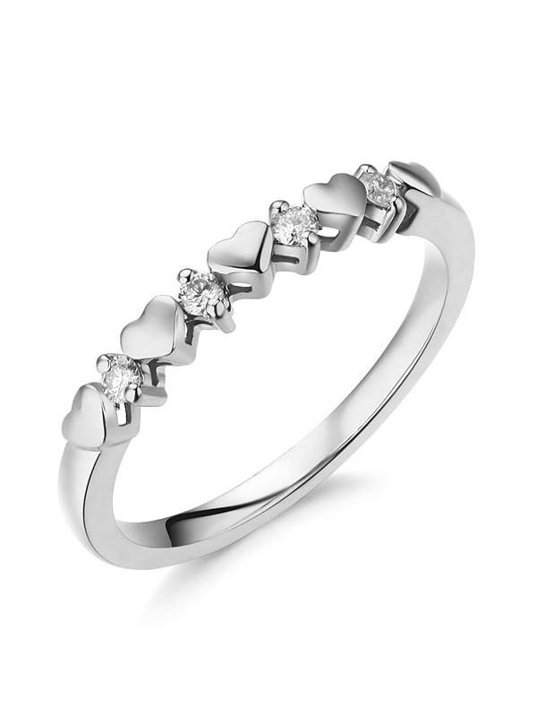Women Heart 14k White Gold Bridal Wedding Band Ring 0 11 Ct Natural Diamonds