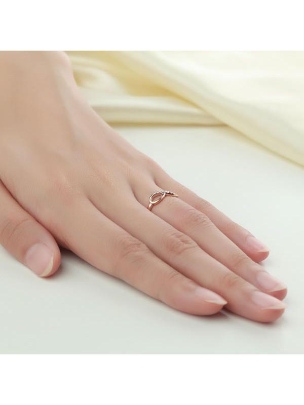 women 14k rose gold wedding band women ring 008 ct diamond affordable fine