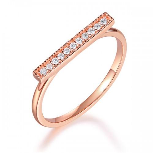 Women 14K Rose Gold Wedding Band Elegant Ring 0.07 Ct Diamond