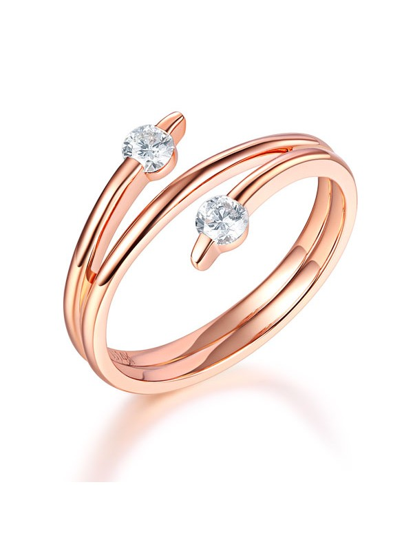 Women 14K Rose Gold Wedding Band Stylish Ring 0.2 Ct Diamond Fine Jewelry