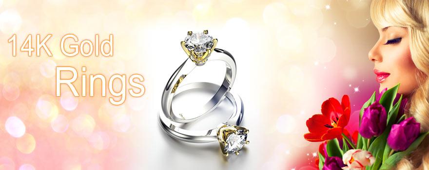 14K Gold Engagement Rings