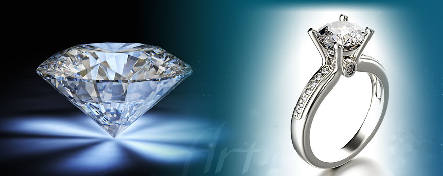 Moissanite Diamond Rings